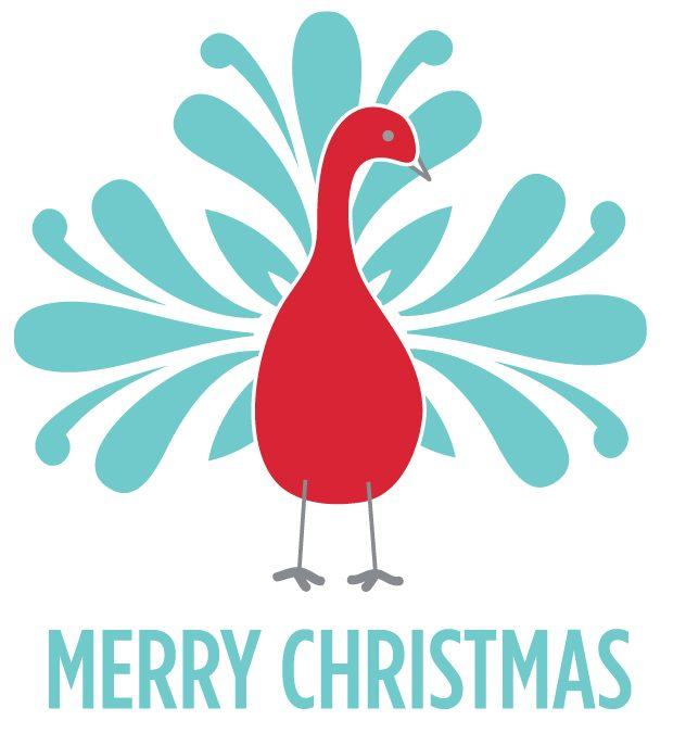 Peacock Merry Christmas